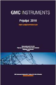 Prijslijst GMC instruments 2016