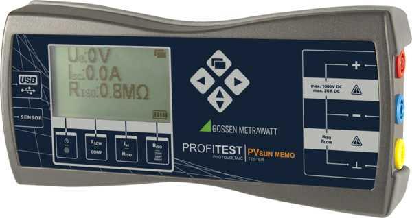 Nieuw in de verhuur PVsun zonnepanellen tester EN 62446